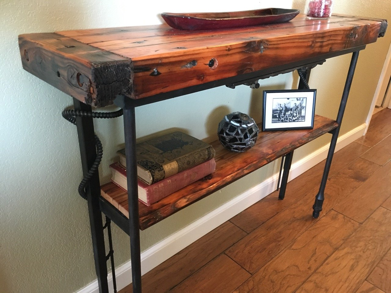 """Live Edge Runner"" Farmpunk Hall Table"