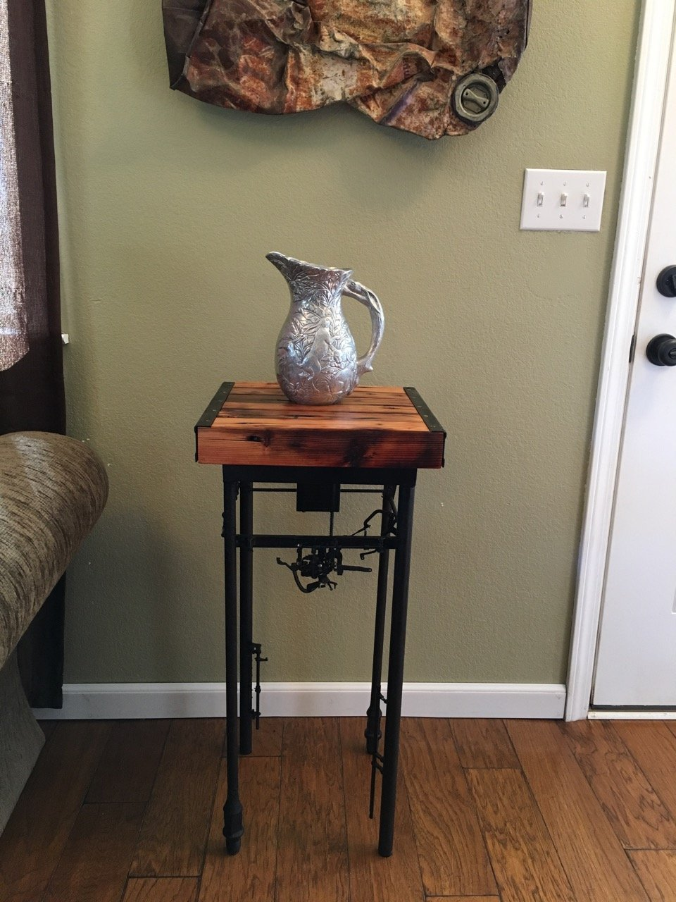 """Ironside"" Tall Farmpunk Display Table"