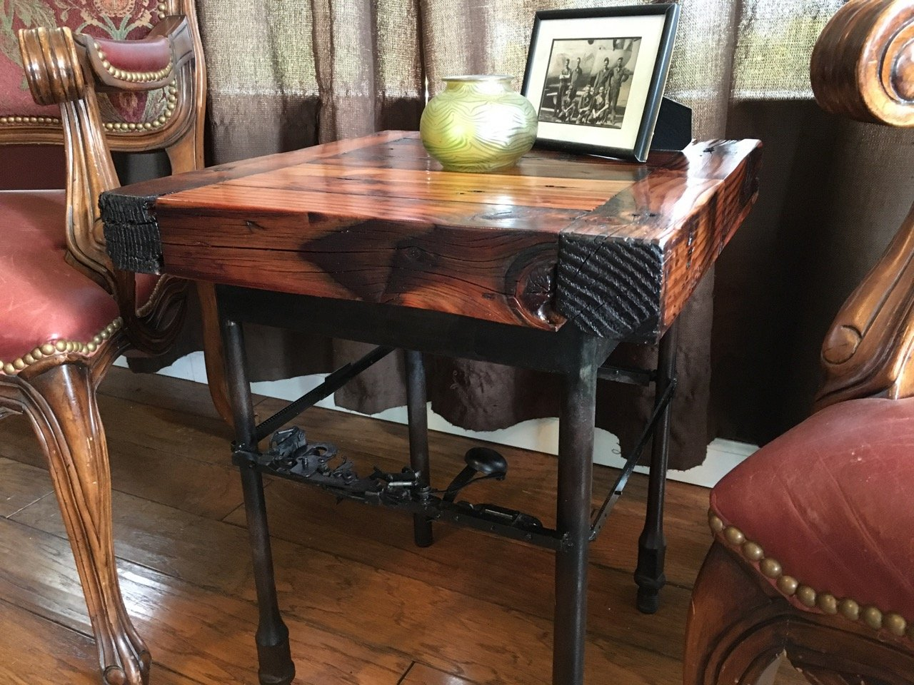 """Ringer"" Farmpunk End Table"